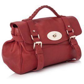 Mulberry-Mulberry Red Leather Alexa Satchel-Red