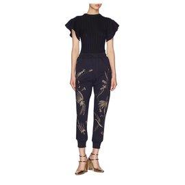 Dries Van Noten-Pantalons, leggings-Noir