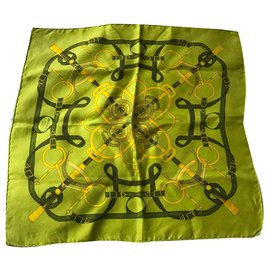 Hermès-Silk scarves-Green