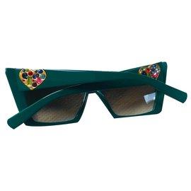 Marc Jacobs-Des lunettes de soleil-Vert