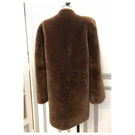 Chloé-Chloé Lambskin coat new-Brown