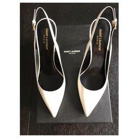 Saint Laurent-Saint Laurent Chaussures-Blanc
