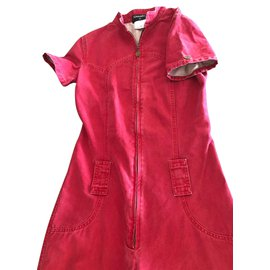 Chanel-Cotton jumpsuit-Red