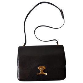 Hermès-Handbags-Black,Golden