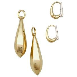 Pomellato-Boucles d'oreilles Pomellato en or jaune.-Autre