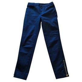 Louis Vuitton-Pantalons, leggings-Bleu foncé