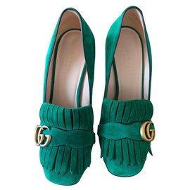 Gucci-Escarpins vert Gucci marmont-Vert