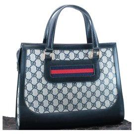 Gucci-Sac à main Gucci Sherry Line GG-Bleu