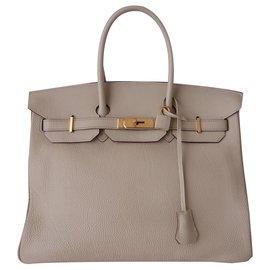 Hermès-HERMES BIRKIN BAG 35 PARCHMENT-Beige