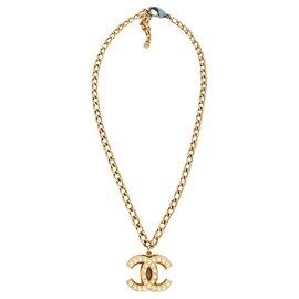 Chanel-Vintage Faux Pear CC-Golden