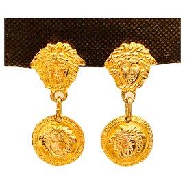 Gianni Versace-Vintage Medusa clip on-Golden