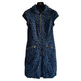 Louis Vuitton-Louis Vuitton denim leopard-Bleu