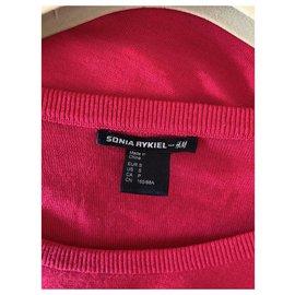Sonia Rykiel pour H&M-Fuchsia and black sweater Sonia rykiel x Hm-Pink