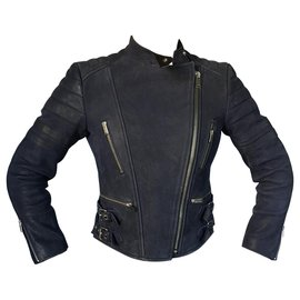Céline-Biker Jacket-Black,Navy blue