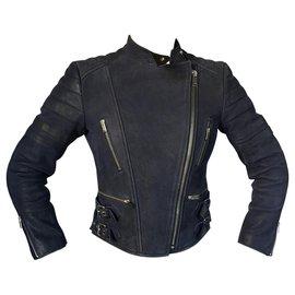 Céline-Biker Jacket-Noir,Bleu Marine