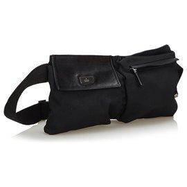 Gucci-Gucci Sac de ceinture en toile noire-Noir