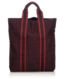 Hermès-Hermes Red Fourre Tout Cabas-Red,Dark red