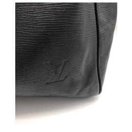 Louis Vuitton-keepall 45 cm leather epis black-Black