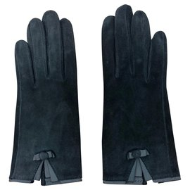Hermès-Hermès Gloves-Navy blue
