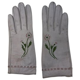 Hermès-Hermès gloves cream-Cream