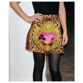 Versace For H&M-Skirts-Leopard print