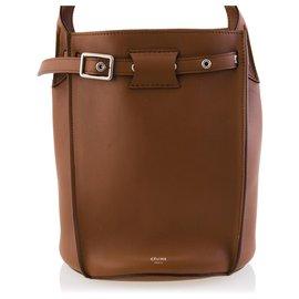 Céline-Celine Brown 2018 Leather Big Bag Bucket-Brown