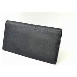 Louis Vuitton-Louis Vuitton Taiga Long Wallet-Black