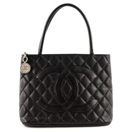 Chanel-Medallion Tote-Black