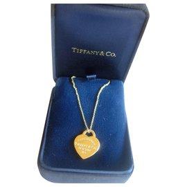 Tiffany & Co-Collier pe,de,tif Return to Tiffany en or jaune 750/000-Doré