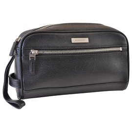 Burberry-Burberry Nova Check Clutch Bag-Black