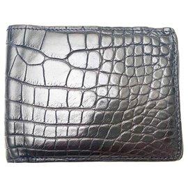 Louis Vuitton-Vuitton Crocodile Multiple wallet-Blue