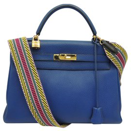Hermès-hermes kelly 32-Blue