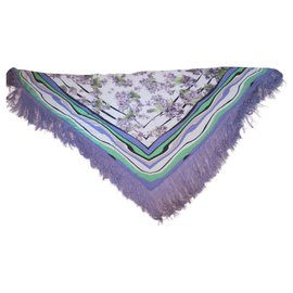 Roberto Cavalli-Shawl with fringes-Multiple colors