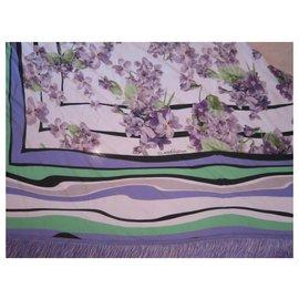Roberto Cavalli-Châle à franges-Multicolore