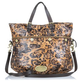 Mulberry-Mulberry Brown Leopard Print Mitzy Satchel-Brown,Black