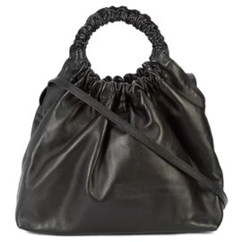 The row-The Row Black lined Circle Satchel-Black