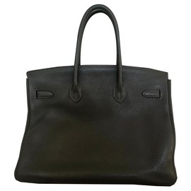 Hermès-Birkin Bag 35 HERMES GRAY TAURILLON-Grey