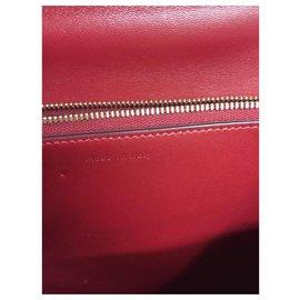 Céline-CELINE CLASSIC MEDIUM BOX  BAG RED-Red