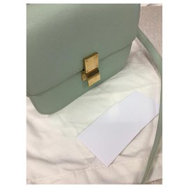 Céline-MEDIUM CLASSIC BAG BOX LIEGE LEATHER-Light green