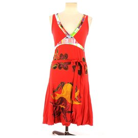 Desigual-robe-Red