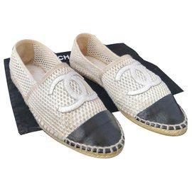 Chanel-Beautiful Chanel sneakers-Black,Beige