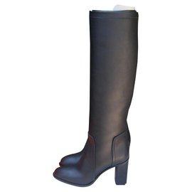 Hermès-Hermes boots-Black