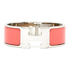 Hermès-CLICK H LARGE CORAL S NEW-Silvery