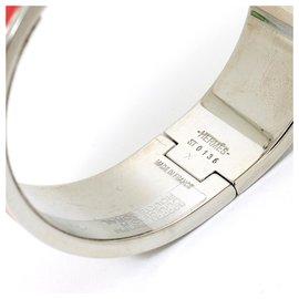 Hermès-CLIC H LARGE CORAL S NEW-Argenté