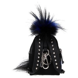 Fendi-Fendi key ring backpack new-Black