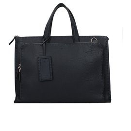 Fendi-Sacs Porte-documents-Bleu