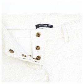 Balmain-OFF WHITE TEXTURED FR36-Écru
