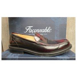 Façonnable-Façonnable loafers-Dark brown