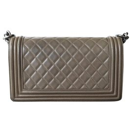 Chanel-Chanel Boy Old Medium-Olive green