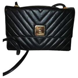 Chanel-Sac avec bandoulière-Noir